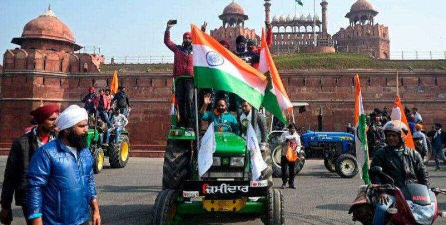 Індія, Нью Делі, Фермери, Протести, Трактори, Інтернет
