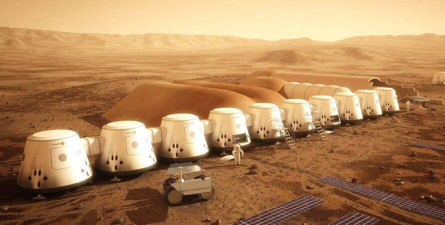 Так должна была выглядеть марсианская колония. Mars One