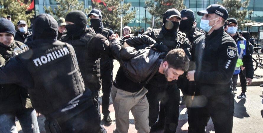 акція, затримання, мітинг, тарифи, комуналка, ціни, Одеса, 10 квітня