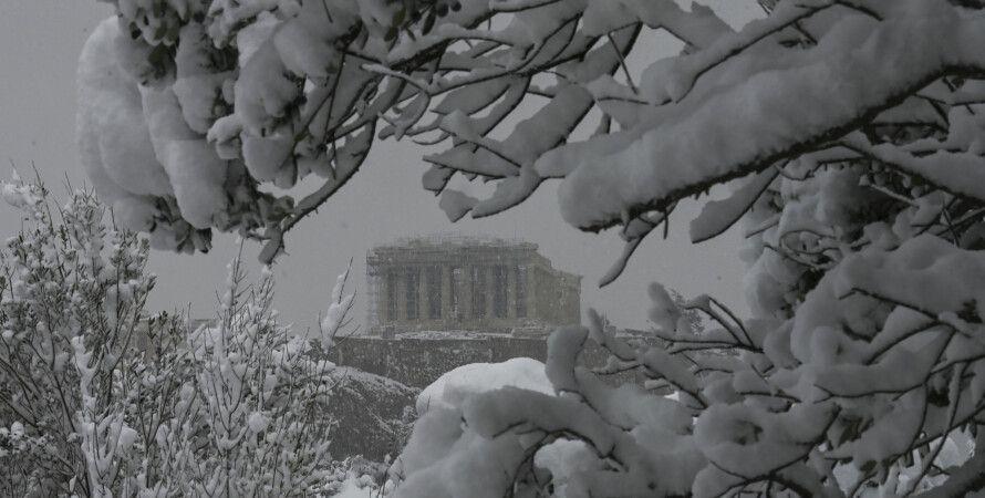 Греция, Афины, вакцинация, вакцина, снегопад, комендантский час, пандемия коронавируса