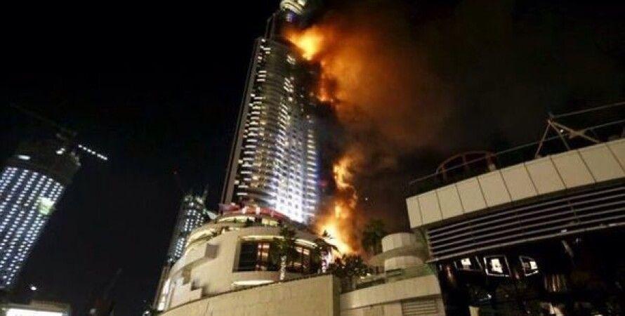Пожар в Дубае / Фото: twitter.com/TheNationalUAE