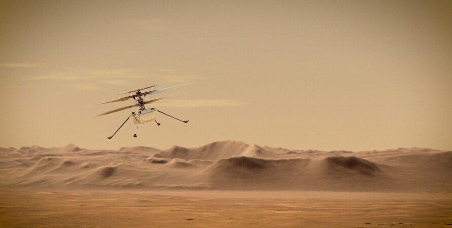 марс, космос, вертолет, nasa, марсоход