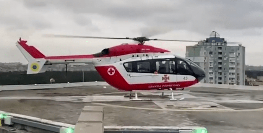служба аеромедичної евакуації, евакуація на вертольоті