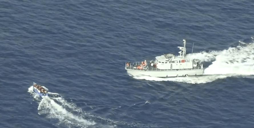 беженцы, море, береговая охрана, фото