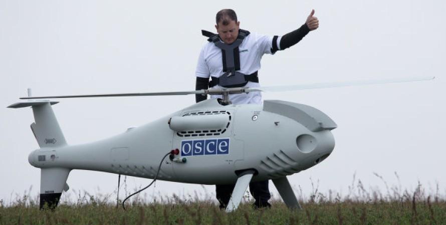 Дрон ОБСЕ, обсе, боевики, дрон, сепаратисты, донбасс, выстрелы, российские боевики, сбили беспилотник, бпла