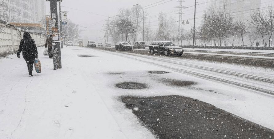 киев, погода, снег, снегопад, гололед, погода в украине