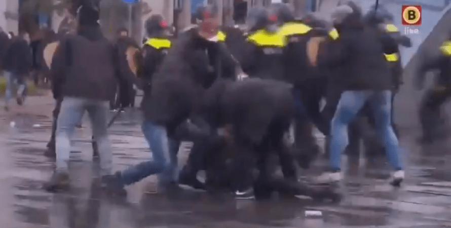 эйндховен, нидерланды, драки, протесты
