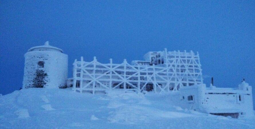 обсерваторія, поп іван, гора, сніг