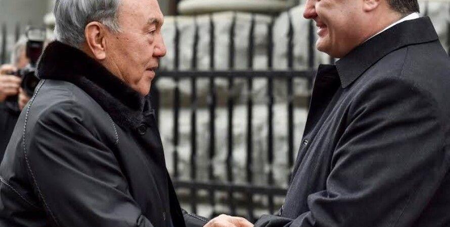 Нурсултан Назарбаев и Петр Порошенко / Фото пресс-службы президента Украины
