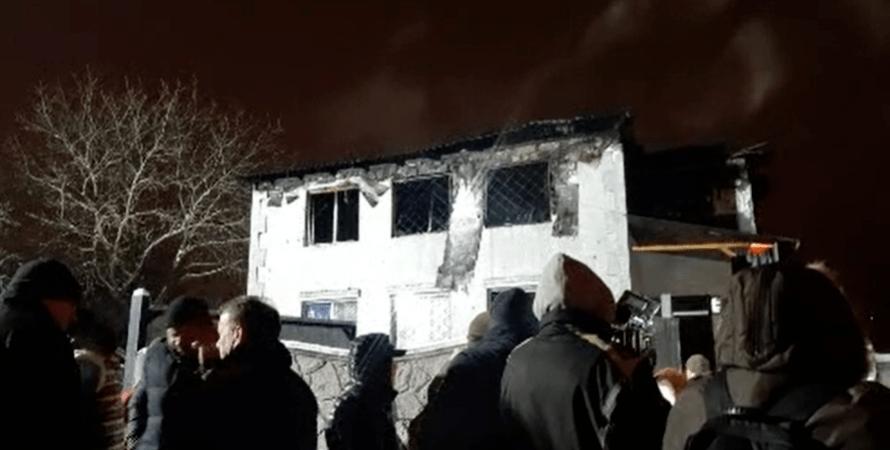 харьков, пожар, дом престарелых, пансионат, сгорел
