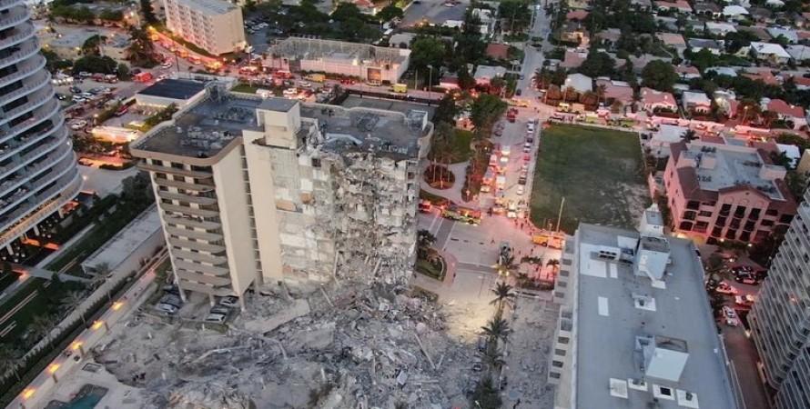 Champlain Towers South, многоэтажка, флорида, обрушение