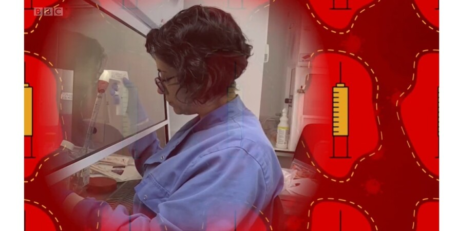 вакцина, коронавирус, лаборант
