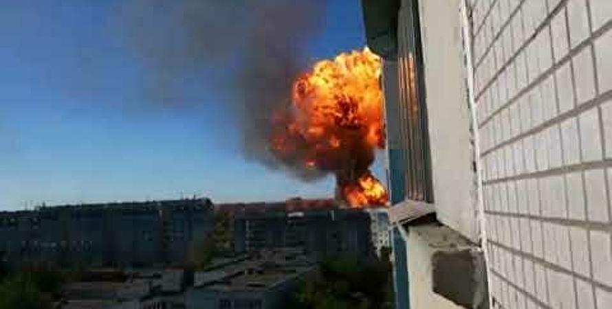 вибух, пожежа, пожежа на АЗС в Новосибірську