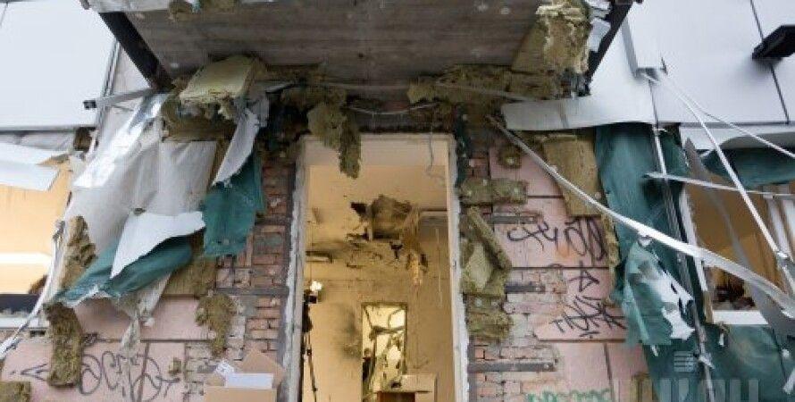 """Последствия взрыва в офисе """"Волонтерской сотни"""" в Одессе / фото УНИАН"""