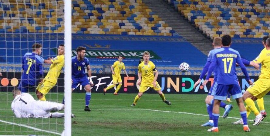 Футбол, Отбор на ЧМ-2022, Сборная Украины, Сборная Казахстана, Роман Яремчук