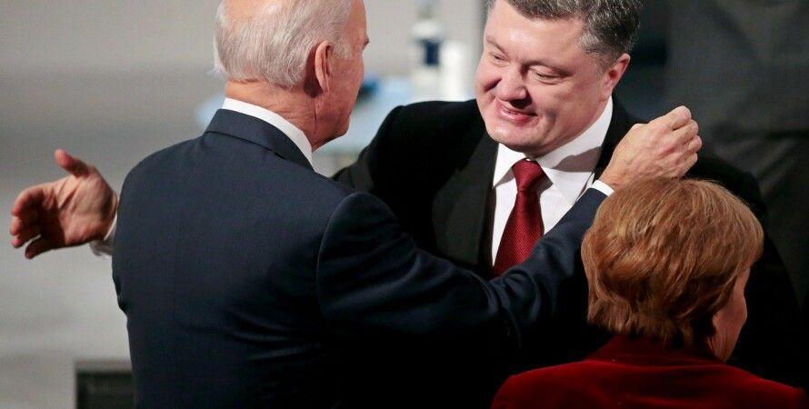 Порошенко, Байден и Меркель / Фото: Getty Images