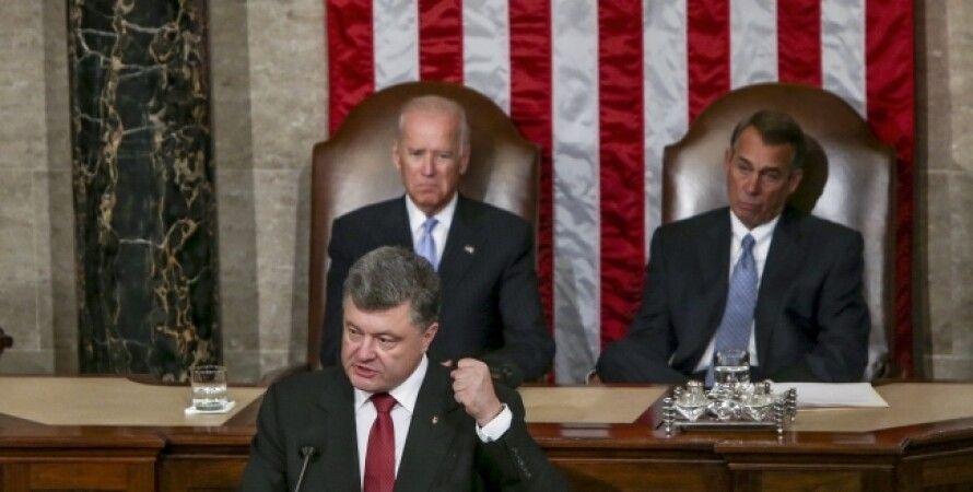 Петр Порошенко в Конгрессе США / Фото пресс-службы президента