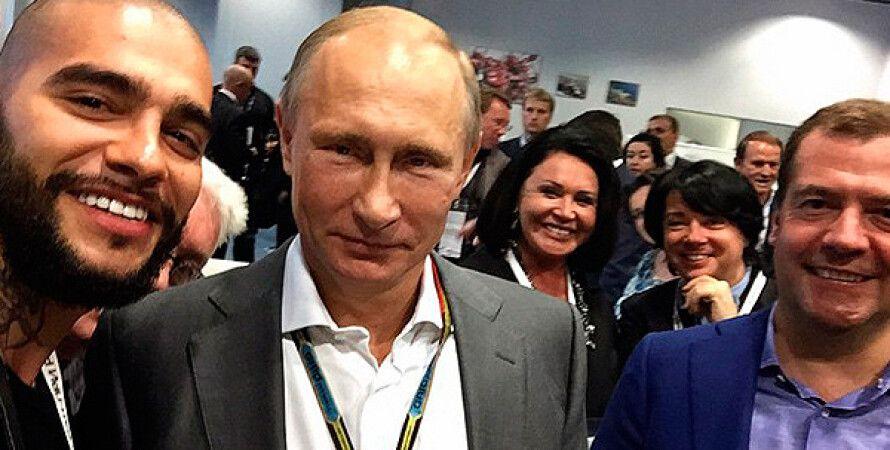 Фото: Тимати, Владимир Путин и Дмитрий Медведев. Фото: instagram.com/timatiofficia