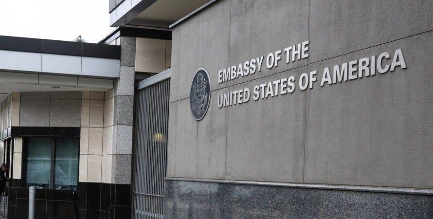 посольство США в Украине, фото, реакция на санкции