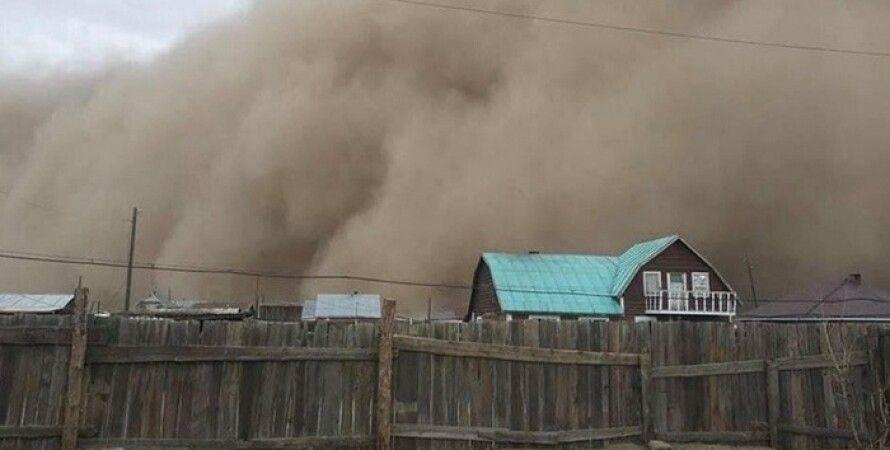 Монголия, песчаная буря, буря, стихия, электроэнергия