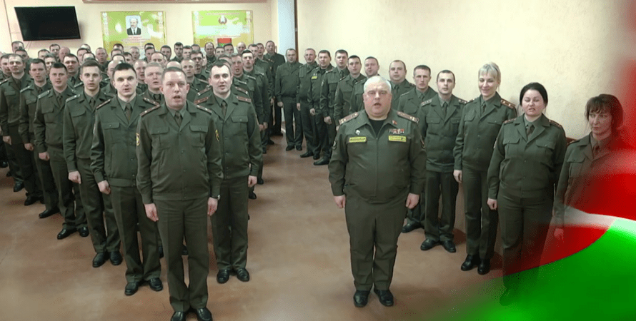 флешмоб в гомеле, белорусские военные.