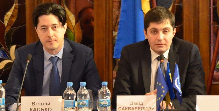 Виталий Касько, Давид Сакварелидзе / Фото: Пресс-служба ГПУ
