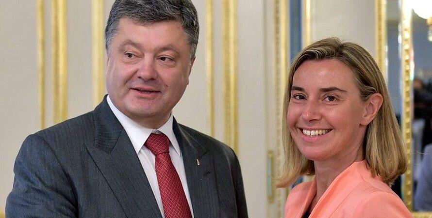 Порошенко и Могерини / Фото пресс-службы президента