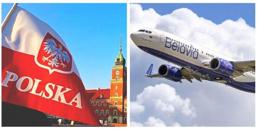 Польша, Белавия, воздушное пространство, санкции