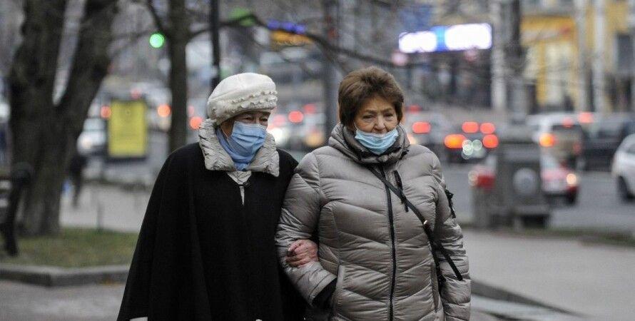 коронавирус, люди на улице, киев