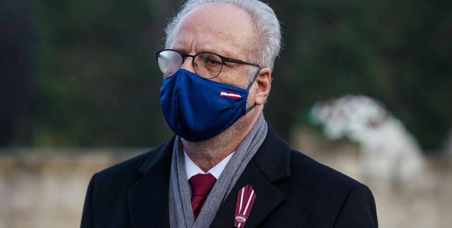 Эгил Левитс, латвия, коронавирус, маски, президент
