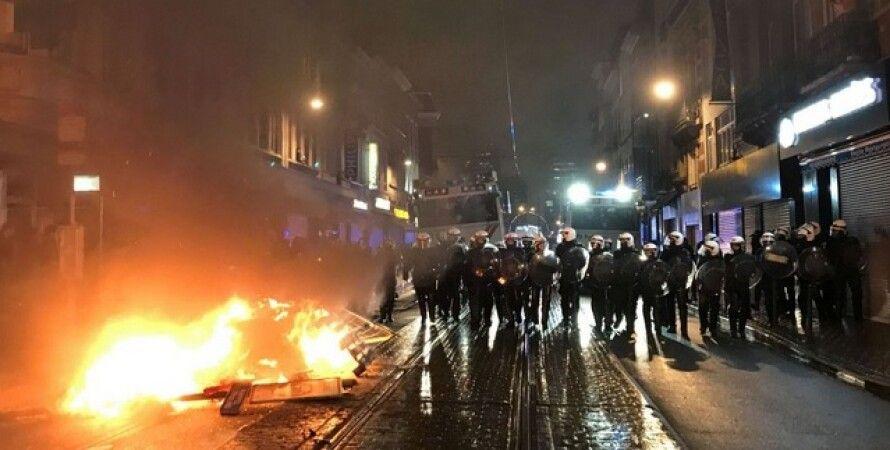 Бельгия,  Брюссель, мигрант, протесты, беспорядки
