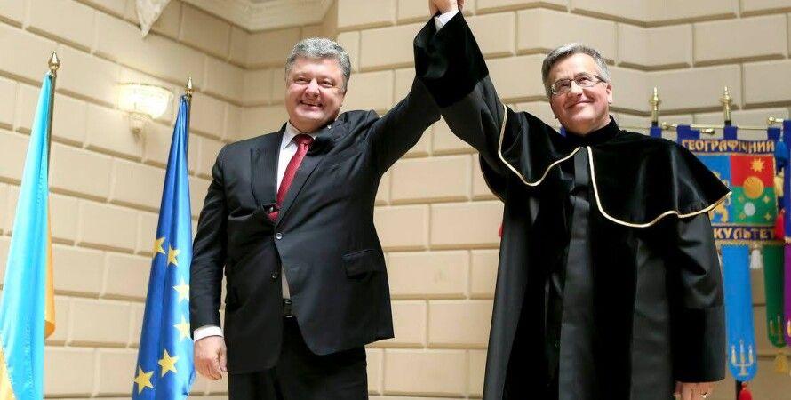 Петр Порошенко, Бронислав Коморовский / Фото: пресс-служба президента