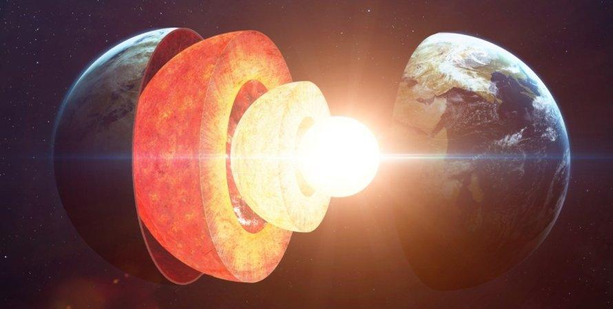 ядро, кора, мантия, Земля, фото