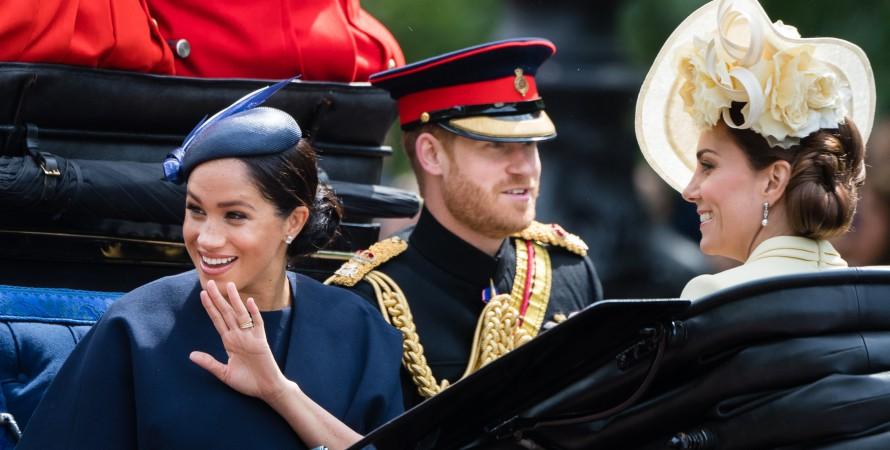 королевская семья Британии, Меган Маркл, Кейт Миддлтон, принц Гарри