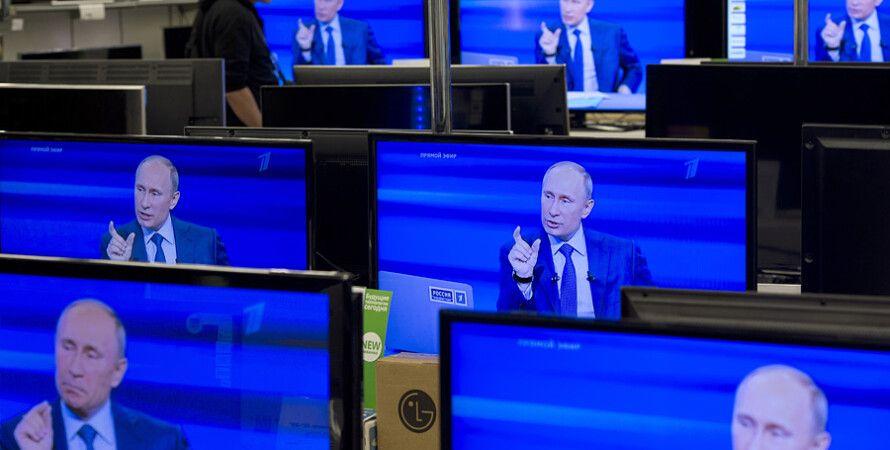 """Владимир Путин на российском ТВ / Фото: """"РИА Новости"""""""