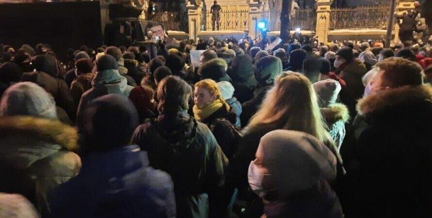 Сергей Стерненко, протесты, 27 февраля, МВД, Геращенко, полиция,