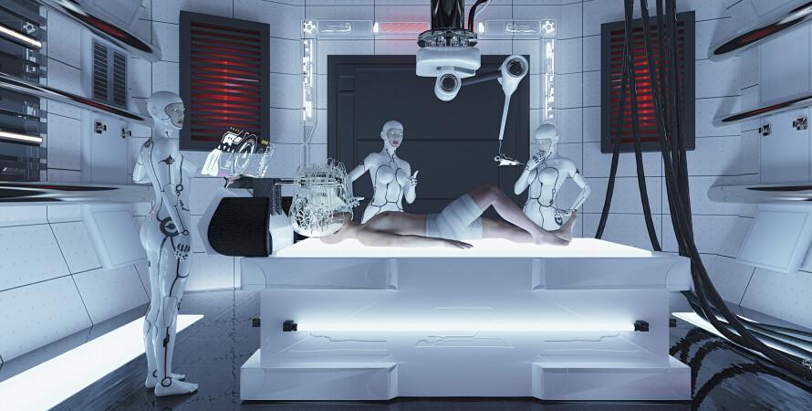 Роботы, андроиды, лаборатория
