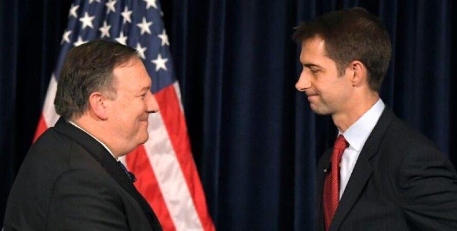 Сенатор-республиканец Том Коттон и Госсекретарь Майк Помпео/Фото: yahoo.com
