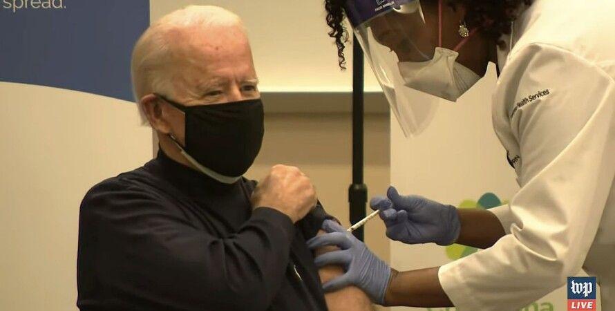 Джо Байден, привился, вакцина, Pfizer, США, коронавирус