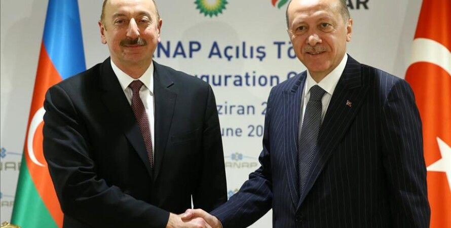 Алиев, ильхам алиев, эрдоган реджеп тайип эрдоган, карабах, нагорный карабах, парад