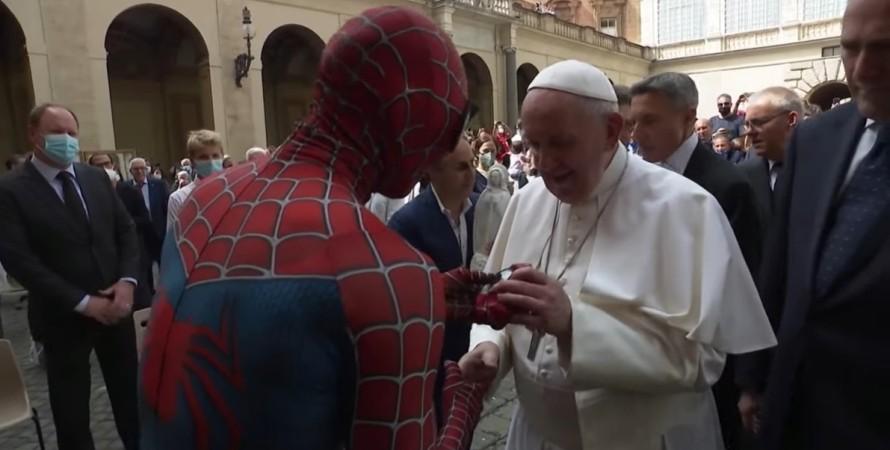 Папа Римский, Человек-паук