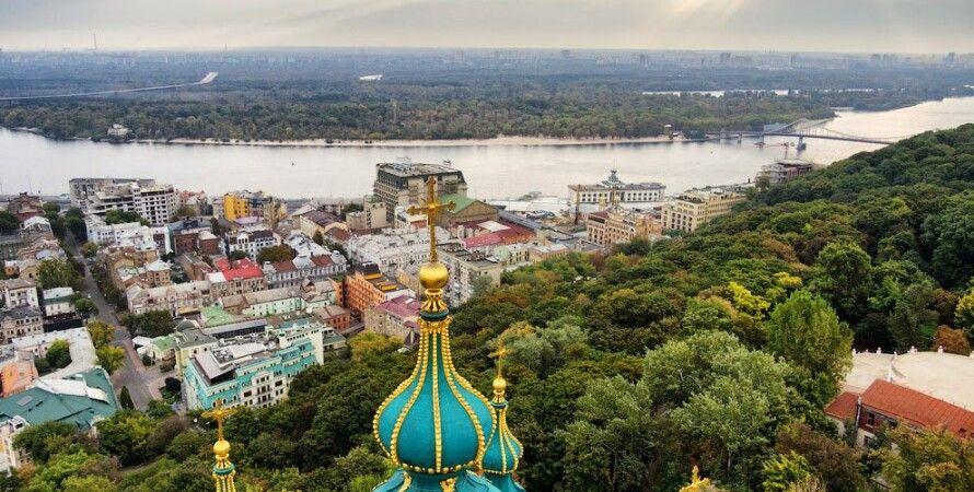 Вид на Подол и левый берег Днепра, Киев / Фото: Skyandmethod.com