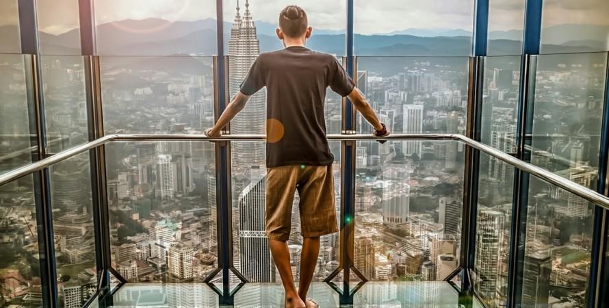 мегаполис, вид сверху