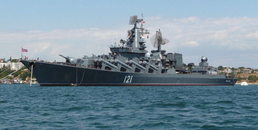 """Крейсер ЧФ РФ """"Москва"""" / Фото: Wikipedia"""