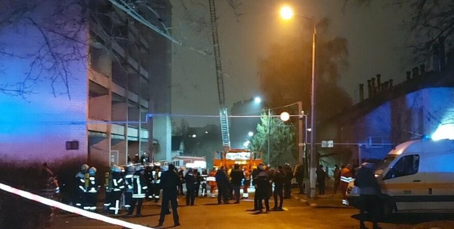 пожар, запорожье, больница, погибшие, фото