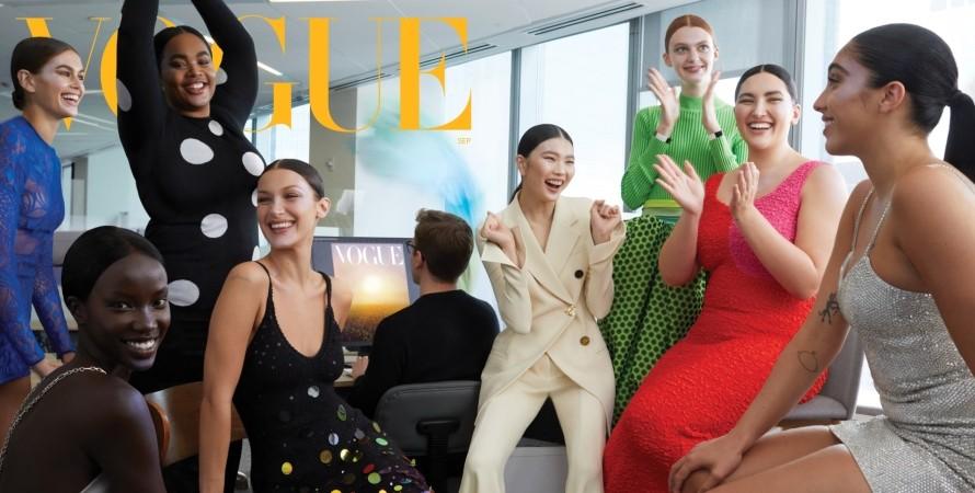 Vogue, модели, обложка