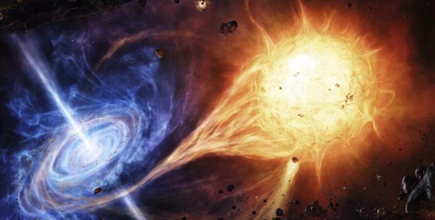 черная дыра, звезда, затмение, Млечный Путь