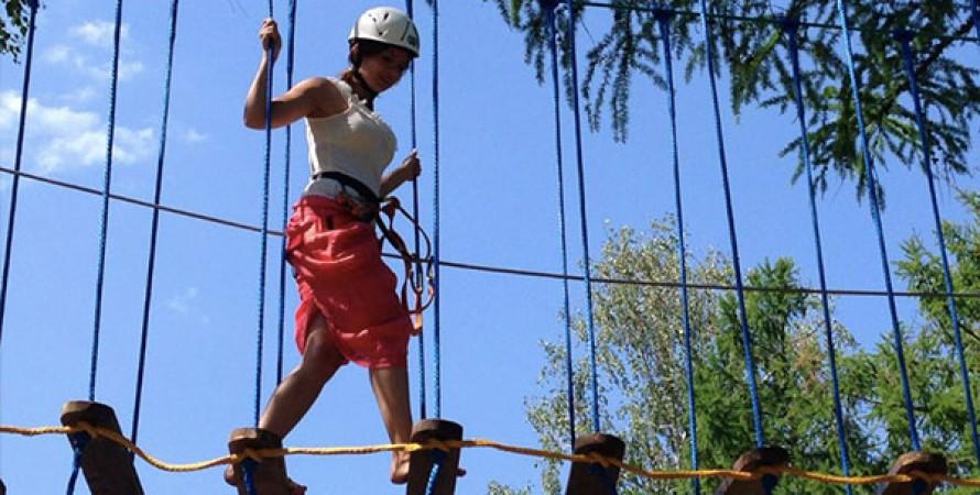 веревочный парк, активные выходные