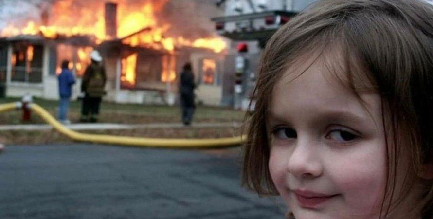Зої Рот, фото, пожежа, дівчинка-катастрофа, мем, токен