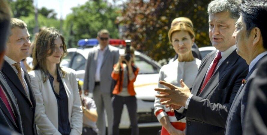 Петр Порошенко и Синдзо Абэ / Фото пресс-службы президента